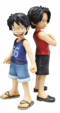 One Piece - Figuren: Monkey D. Luffy und Portgas D. Ace