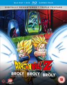 Dragon Ball Z - Movie 08+10+11: Broly, the Legendary Super Saiyan + Broly: Second Coming + Bio-Broly [Blu-ray+DVD]