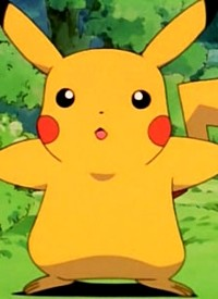Pikachu is a character of anime »Pocket Monsters« and of manga »Gekijouban Pocket Monsters AG: Mew to Hadou no Yuusha Lucario«.