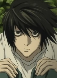 """""""L"""" is a character of anime """"Death Note"""" and of manga """"Death Note""""."""