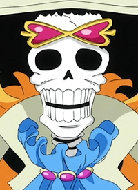 Brook is a character of anime »One Piece« and of manga »One Piece«.