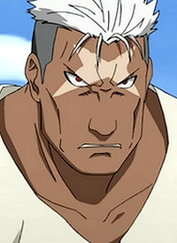 Scar is a character of anime »Hagane no Renkinjutsushi« and of manga »Hagane no Renkinjutsushi«.