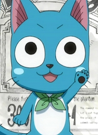 Happy is a character of anime »Fairy Tail« and of manga »Fairy Tail«.