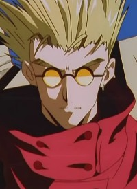»Vash The Stampede« is a character of anime »Trigun« and of manga »Trigun«.