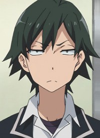 Hachiman HIKIGAYA is a character of anime »Yahari Ore no Seishun Lovecome wa Machigatte Iru.« and of manga »Yahari Ore no Seishun Love Come wa Machigatteiru. -Mougenroku-«.