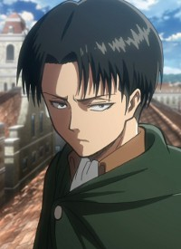 Levi is a character of anime »Shingeki no Kyojin« and of manga »Shingeki no Kyojin«.