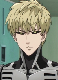 Genos is a character of anime »One Punch Man« and of manga »One Punch-Man«.