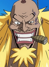 Kinjishi no Shiki is a character of anime »One Piece« and of manga »One Piece: Strong World Dai 0 Wa«.