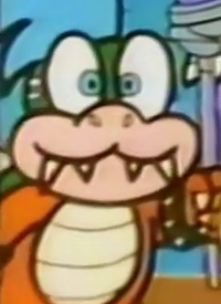 »Larry« is a character of anime »Amada Anime Series: Super Mario« and of manga »Super Mario-kun«.