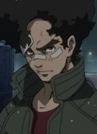 Junk Dog is a character of anime »Megalo Box« and of manga »Megalobox: Shukumei no Souken«.