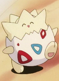 Togepi is a character of anime »Pocket Monsters« and of manga »Pocket Monsters«.