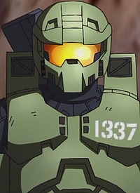 1337 is a character of anime »Halo Legends«.